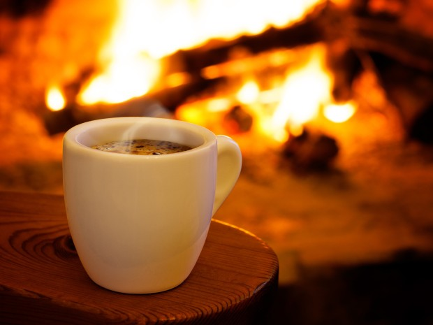 Coffee-Fireplace